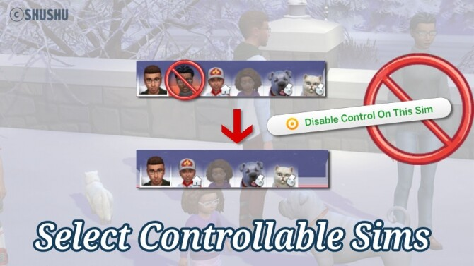 Sims 4 Select Controllable Sims by SHUSHU at Mod The Sims