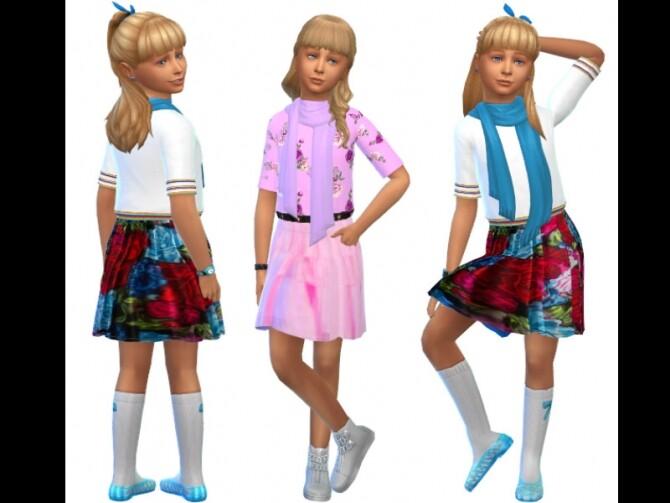 Sims 4 Sweet dress for children at Louisa Creations4Sims