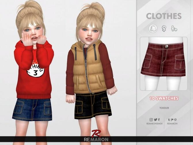 Sims 4 Denim skirt for Girls 01 by remaron at TSR