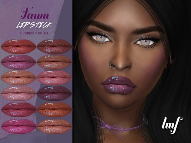 Sims 4 IMF Fawn Lipstick N.303 by IzzieMcFire at TSR