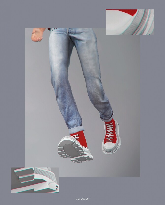 TS high top sneakers at MMSIMS image 1506 670x832 Sims 4 Updates