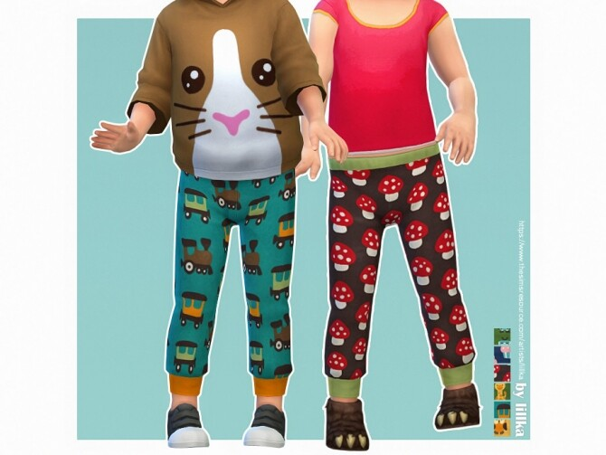 Sims 4 Sweatpants for Toddler 06 by lillka at TSR