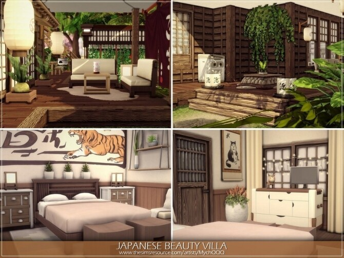 Sims 4 Japanese Beauty Villa by MychQQQ at TSR