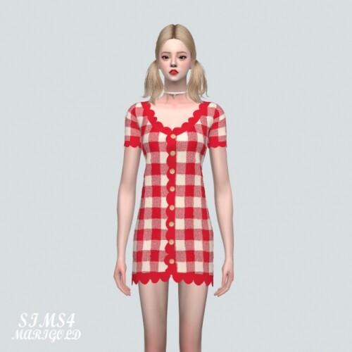 E Scallop Mini Dress V2