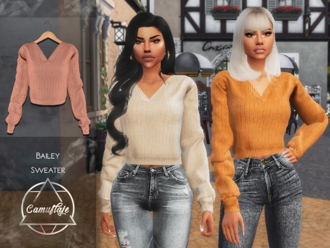 Bailey Sweater by Camuflaje at TSR image 15214 670x503 Sims 4 Updates