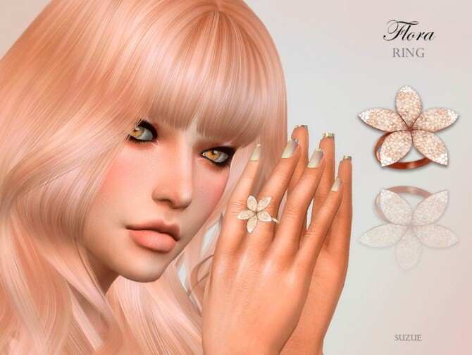 Sims 4 Flora Ring by Suzue at TSR