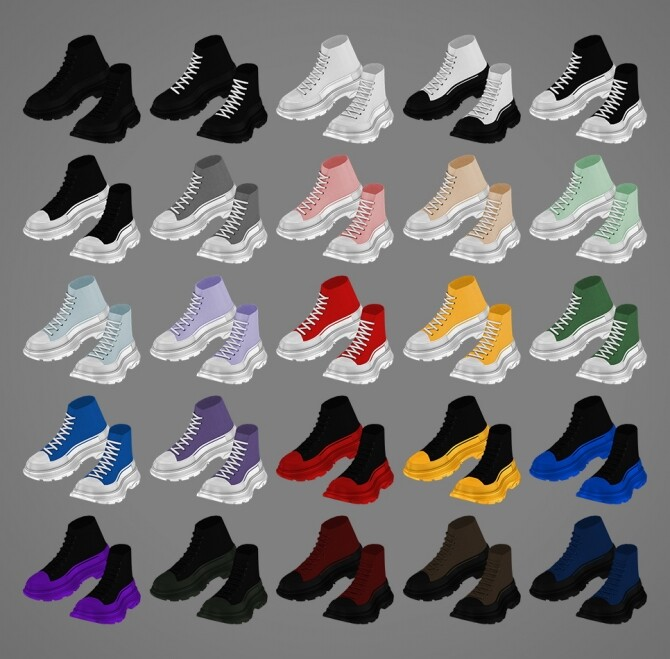 TS high top sneakers at MMSIMS image 1526 670x659 Sims 4 Updates
