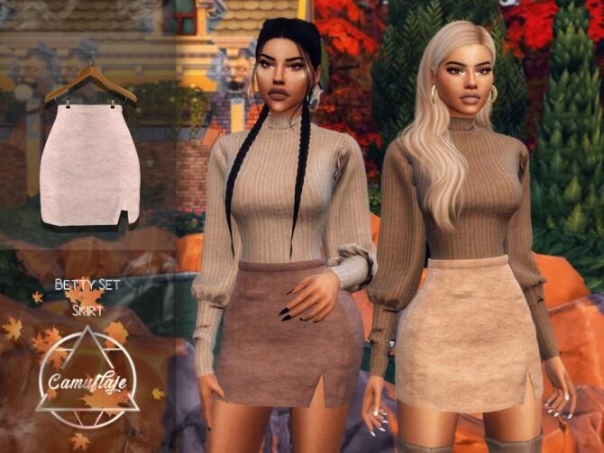 Sims 4 Betty Set Skirt by Camuflaje at TSR