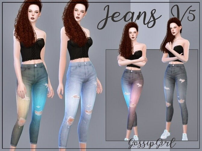 Sims 4 Jeans V5 by GossipGirl S4 at TSR