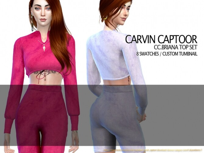 Briana Top Set by carvin captoor at TSR image 15611 670x503 Sims 4 Updates