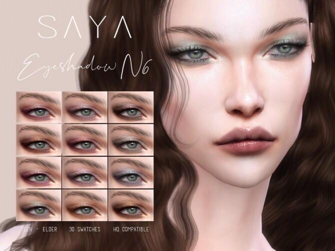 Sims 4 Eyeshadow N6 by SayaSims at TSR