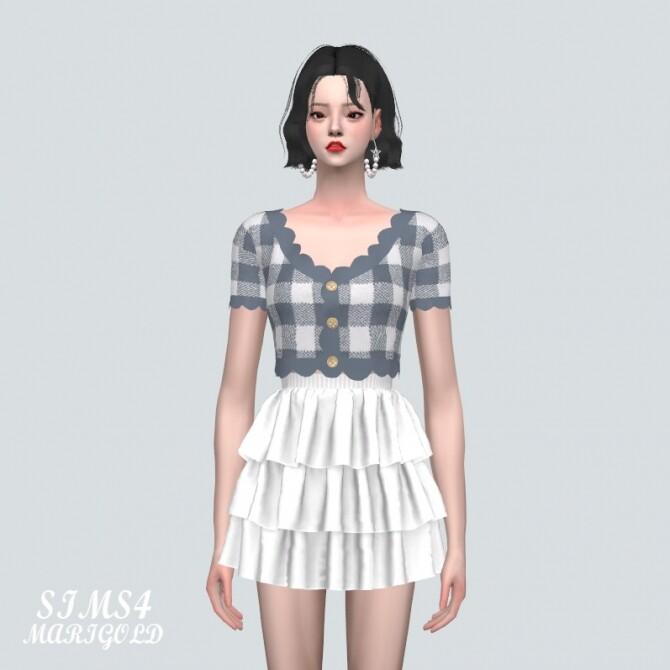 Sims 4 E Scallop Crop Cardigan V2 at Marigold