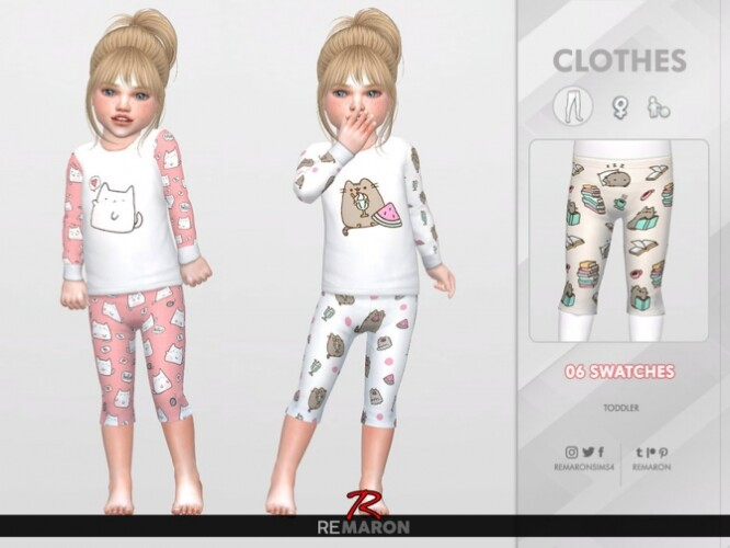 Cats PJ Pants for Girls 01 by remaron