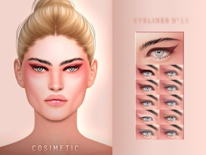 Sims 4 Eyeliner N16 by cosimetic at TSR