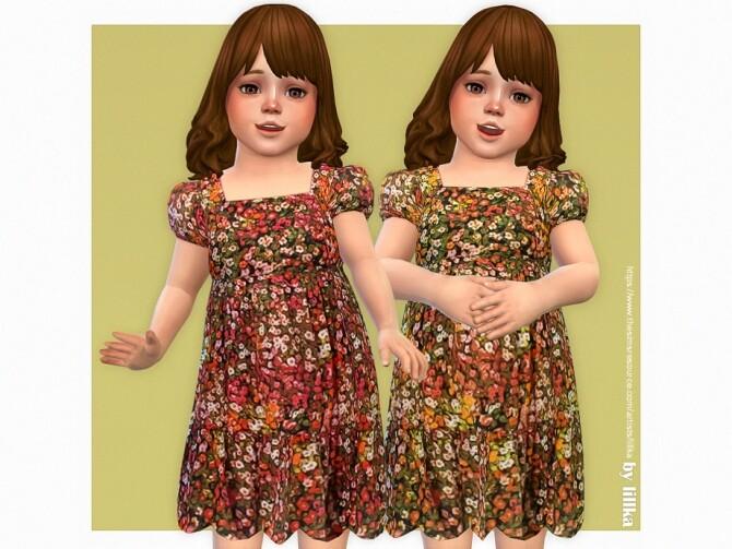Sims 4 Paige Dress by lillka at TSR