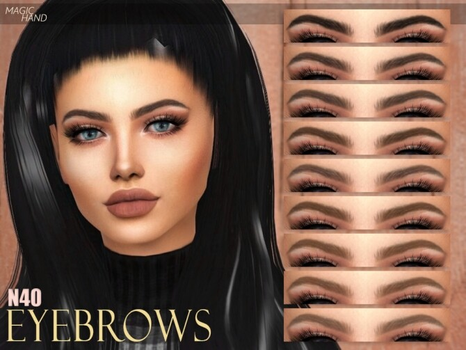 Eyebrows N40 by MagicHand at TSR image 1617 670x503 Sims 4 Updates