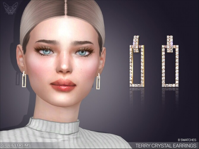 Terry Crystal Earrings by feyona