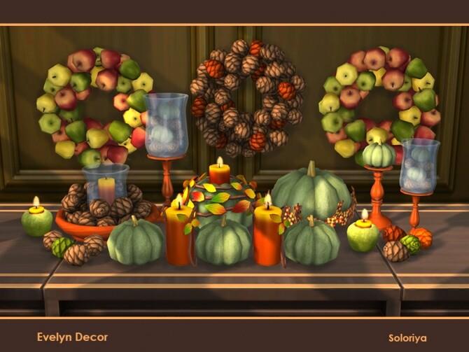 Sims 4 Evelyn Decor by soloriya at TSR