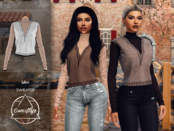 Sims 4 Mimi Sweater by Camuflaje at TSR
