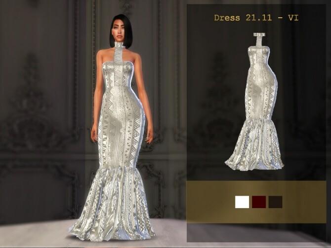 Sims 4 Dress 21.11 VI by Viy Sims at TSR