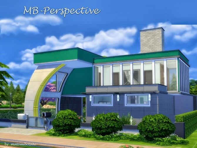 Sims 4 Perspective house by matomibotaki at TSR