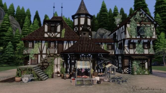 Sims 4 Skyrim Medieval Home at SoulSisterSims