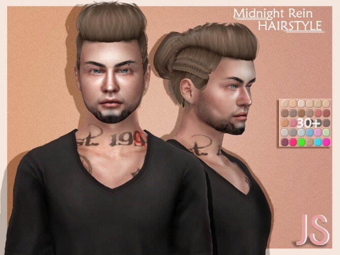 Midnight Rein Hairstyle by JavaSims at TSR image 1674 670x503 Sims 4 Updates