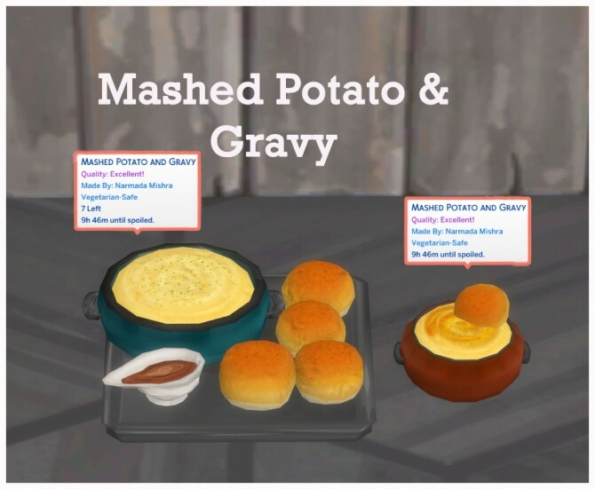 Sims 4 MASHED POTATO AND GRAVY at Icemunmun