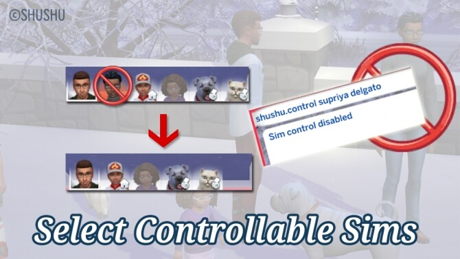 Sims 4 Select Controllable Sims by lemonshushu at Mod The Sims