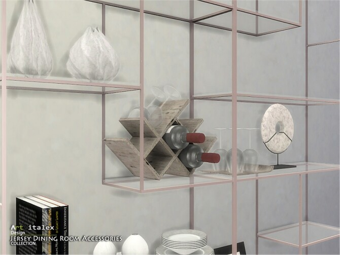 Sims 4 Jersey Dining Room Accessories by ArtVitalex at TSR