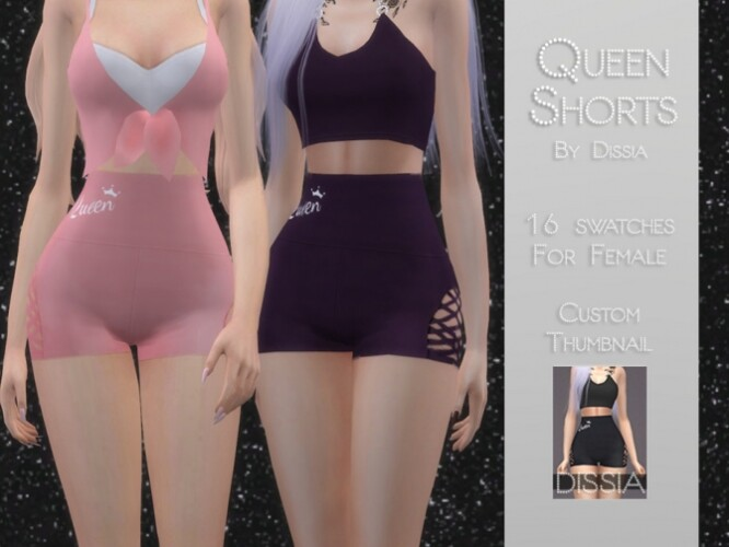 Queen Shorts by Dissia