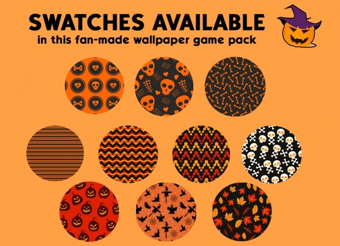 Sims 4 Halloween wallpaper pack by iSandor at Mod The Sims