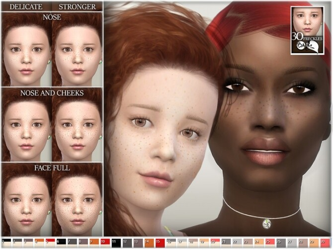 Sims 4 Freckles by BAkalia at TSR
