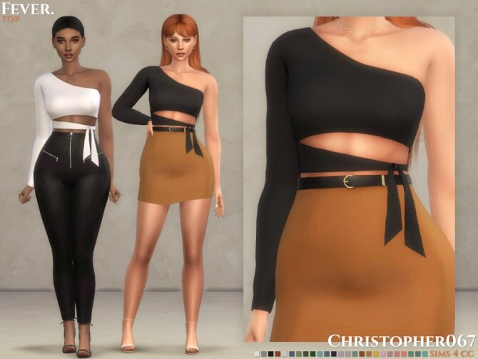 Sims 4 Fever Top by Christopher067 at TSR