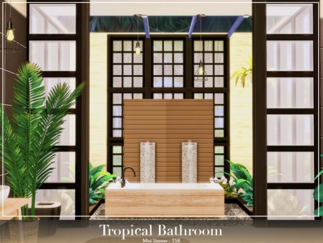 Tropical Bathroom by Mini Simmer