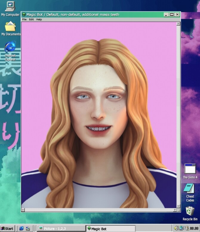 Sims 4 DEFAULT, NON DEFAULT, ADDITIONAL MAXIS TEETH at Magic bot
