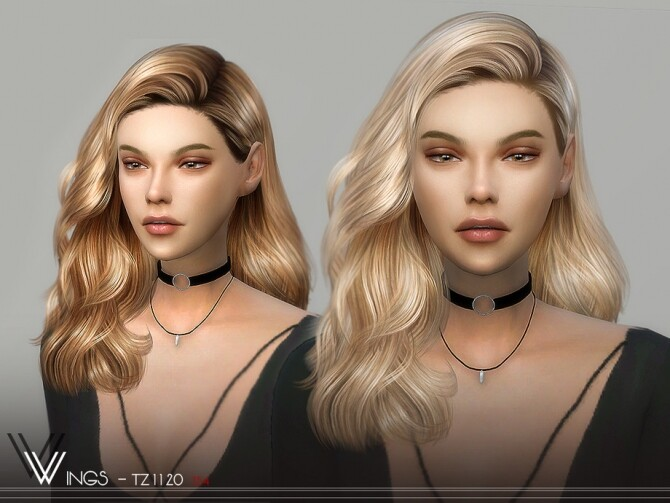WINGS TZ1120 hair by wingssims at TSR image 1749 670x503 Sims 4 Updates