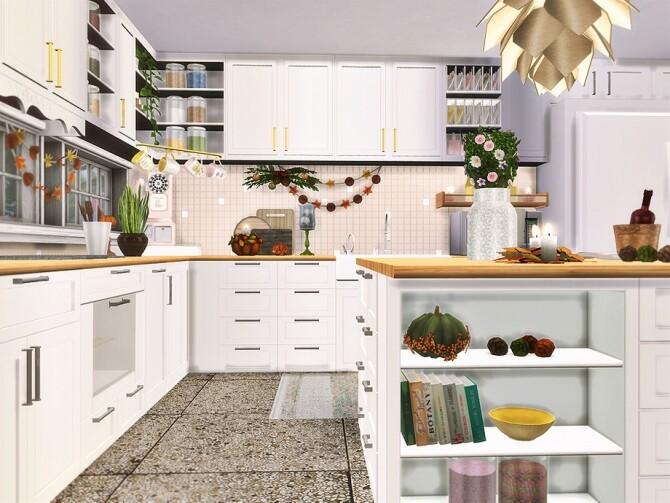 Sims 4 Autumn Grace Kitchen by Rirann at TSR