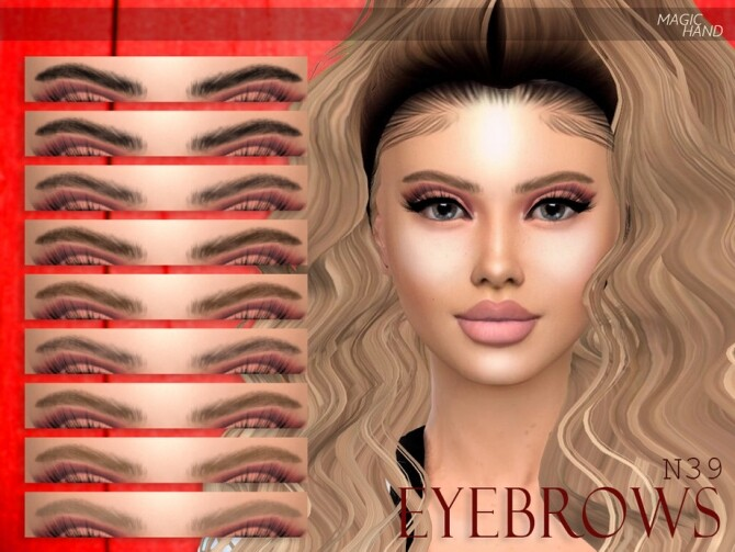 Sims 4 Eyebrows N39 by MagicHand at TSR