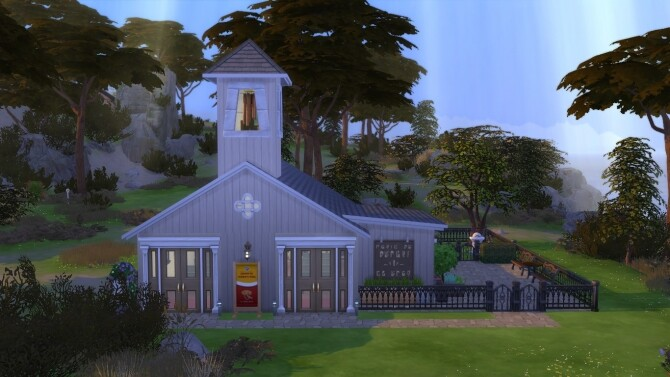 Sims 4 The Little Chapel Unique home by alilona at Mod The Sims