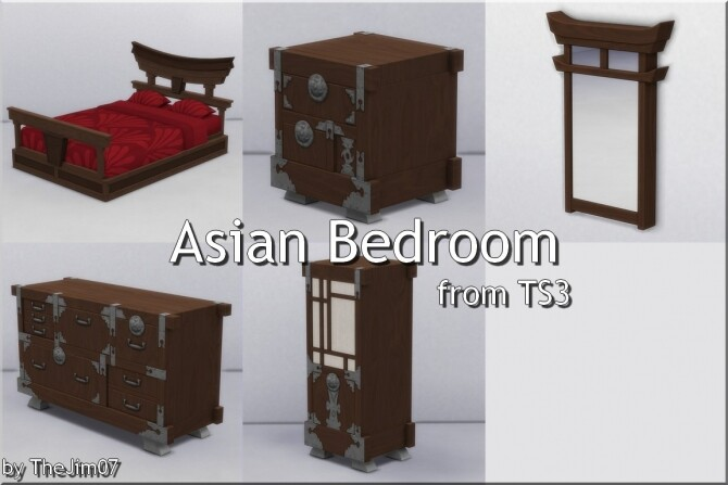 Asian Bedroom from TS3 by TheJim07