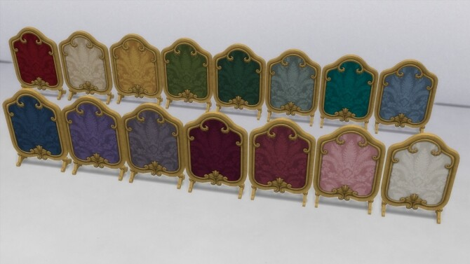 Sims 4 Antique Fireplace Screen by TheJim07 at Mod The Sims