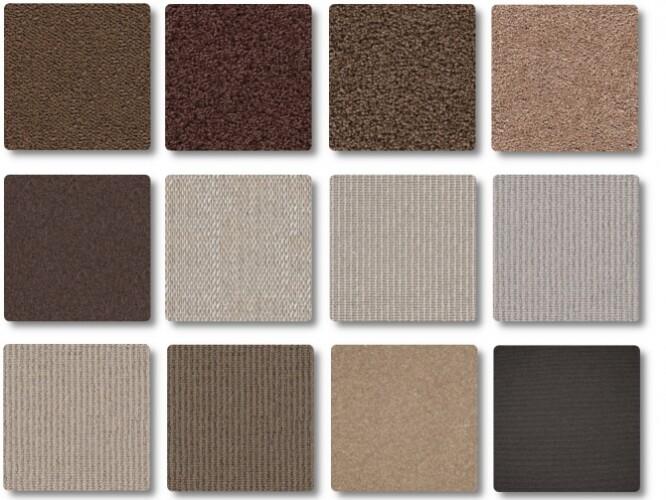 Natural brown carpet set