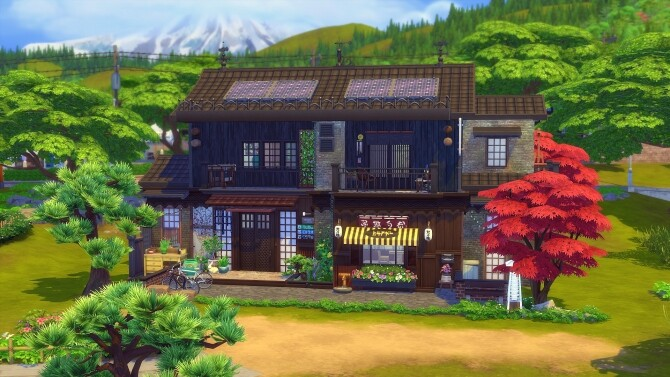 Sims 4 Kokedama Asian home by Angerouge at Studio Sims Creation