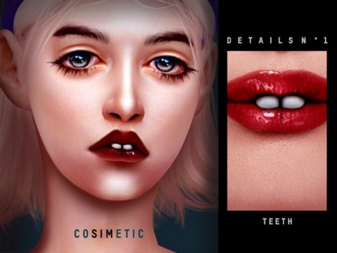 Sims 4 Details N1 Teeth by cosimetic at TSR