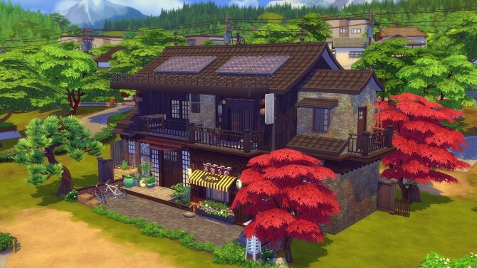 Kokedama Asian home by Angerouge at Studio Sims Creation image 18211 670x377 Sims 4 Updates