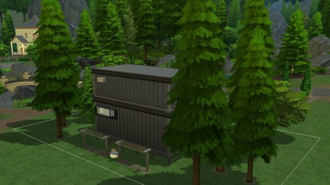 Sims 4 Container Futuristic NO CC by iSandor at Mod The Sims