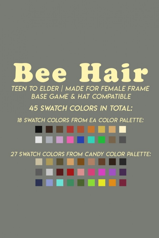 BEE HAIR at Candy Sims 4 image 1851 667x1000 Sims 4 Updates