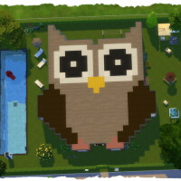Pixel house owl by Chalipo