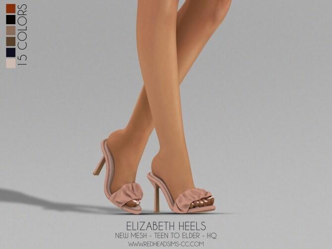 Sims 4 ELIZABETH HEELS at REDHEADSIMS